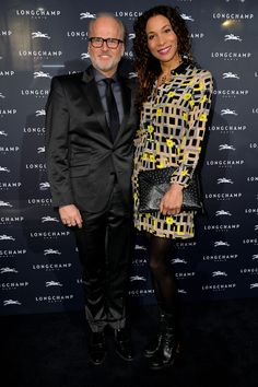 November 26, 2015 - Markus Wahl and Annabelle Mandeng at the Longchamp new flagship store opening in #Cologne.