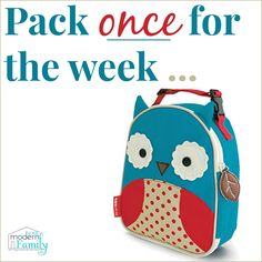 Pack lunches for the week - yourmodernfamily