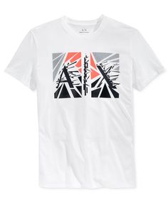 f502d19d3c215 Armani Exchange Men s Broken Short-Sleeve T-Shirt   Reviews - T-Shirts -  Men - Macy s