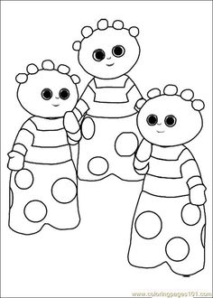 Join Igglepiggle, Makka Pakka and their friends in the Night Garden as they explore the magical place that exists between waking and sleeping in a child's imagination. In The Night Garden is an ABC KIDS Puggles show. Garden Coloring Pages, Online Coloring Pages, Disney Coloring Pages, Coloring Pages To Print, Colouring Pages, Coloring Pages For Kids, Coloring Books, Colouring Sheets, Kids Coloring