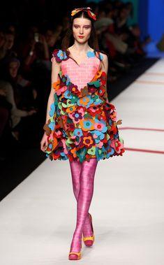 """Fashion's version of """"Curb Appeal""""  -- Agatha Ruiz De La Prada: Milan Fashion Week Womenswear A/W 2009 - Runway"""