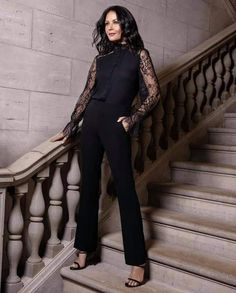 Catherine Zeta Jones, Ready To Wear, Goth, Product Launch, Jumpsuit, The Incredibles, Legs, Stars, Stylish