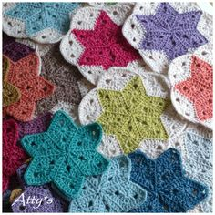 Atty's : Star Blanket Update 2 Half of the stack of stars is surrounded with the natural color