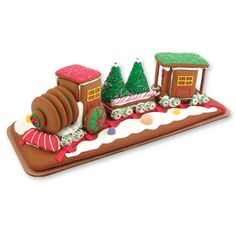 Christmas Gingerbread Train-gingerbread house cookie train kids gingerbread gift
