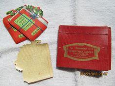 8 Christmas Stickes in Origional Box Dennison MG Co   eBay