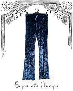 Pantalon Oxfort Chifon Tramado T.U. Azul