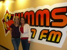 Nicole with Maria from 100.7 WMMS!