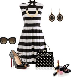 """""""Stripes And Dots"""" by sherryvl on Polyvore"""