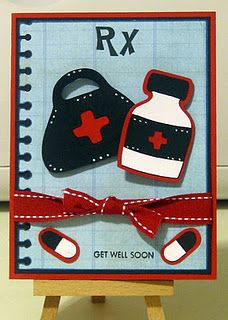 Get Well Card using My Pink Stamper stamps as well as the Cricut machine.