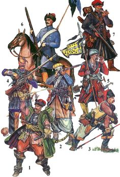 Cossacks circa 1590-1619 years
