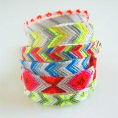 Home-made friend-ship bracelets! String,braid voila!