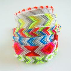 Home-made friend-ship bracelets! String,braid voila!