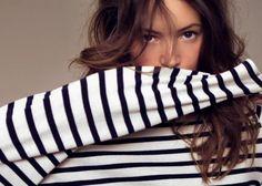 stripes + pretty brown hair