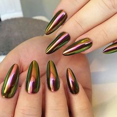 Not my pic but geez!!! so who is gonna request this shade of chameleon chrome for their next appointment??