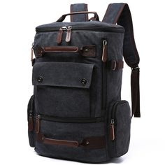 Promotion price Men Laptop Backpack 15 Inch Rucksack Canvas School Bag Travel Backpacks for Teenage Male Notebook Bagpack Computer Knapsack Bags just only $28.78 with free shipping worldwide  #backpacksformen Plese click on picture to see our special price for you