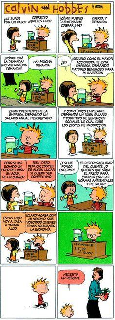 Calvin y Hobbes: economía