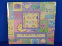Daisy Hill 12x12 Baby Polka Dot Pig Fan Scrapbook Album with ABC Stickers 910119 #DaisyHill
