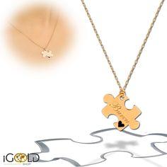 #puzzle #Namenskette  iGoldshop.com #gold #necklace #halskette #fashion