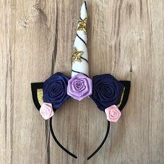Black Gold Unicorn Headband