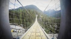 Sea to Sky suspension bridge near Squamish - Canada