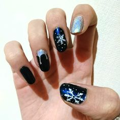 Nail art Snowfall