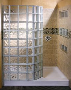 Glassblock shower