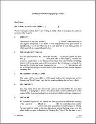 Personal Loan Sample Contract   Google Search  Money Lending Agreement Format