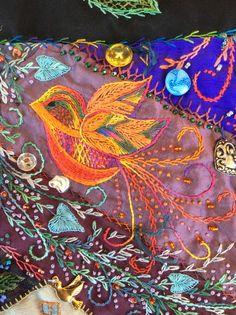 Fantasy bird detail by Robyn Ginn