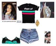 """""""Dope✨"""" by kira101-101 ❤ liked on Polyvore featuring GUESS and Versus"""