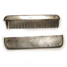 Antique Silver Moustache Comb