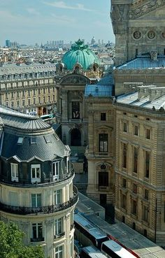 Quartier de l'Opera ~ Paris, France - right behind the Galleries Lafayette! Seen this view from a different angle