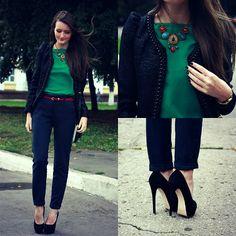 Sasha Shcherbakova - Miss Millie Blazer, Shoes - Black Ashberry