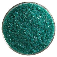 Teal Green Opalescent Medium Frit - 4oz - 90COE - Made From Bullseye Glass