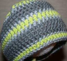 Newborn baby boy beanie crocheted stripe cap jsuey123 photo hat by jsuey123 on Etsy