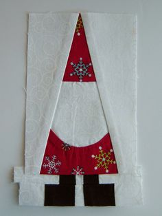 Santa Block Sneak Peak, so cute, but probably wouldn't make it.  Would be cute enlarged on a pillow.