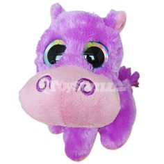 Endowed with a vivid look and a cozy feeling, the TY Beanie Boos purple hippo stuffed doll lets children want to keep it their own. Not only can it be a nice gift for children's birthday, but also it is a wonderful ornament of kids' bedroom. Big Eyed Stuffed Animals, Big Eyed Animals, Ty Animals, Plush Animals, Ty Beanie Boos, Ty Boos, Beanie Babies, Ours Boyds, Ty Peluche