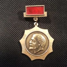 VINTAGE OLD RARE LENIN MEDAL BADGE AWARD PIN USSR RUSSIA СССР LOW PRICE 1960