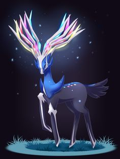 Because I love games, and always loved Pokemon games! I've played them so often in my childhood, so I'm very excited of Pokemon XY ^^ Fanart of Xerneas because this Pokemon is just kickass. Pokemon Fan Art, Gif Pokemon, Pokemon X And Y, Pokemon Ships, Pokemon Games, Pokemon Party, Mythical Pokemon, Cute Pokemon Wallpaper, Pokemon Collection
