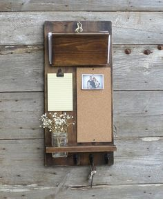 New..Unique Organizer..Rustic Wood Mail and by cottagehomedecor