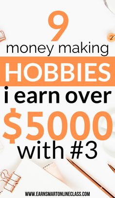 15 Hobbies That Make Money in you need hobbies that make money in 2020 then you are at the right place! Here is a list of 15 amazing money-making hobbies that can earn you up to. Make Money Today, Hobbies That Make Money, Earn More Money, Ways To Earn Money, Earn Money From Home, Earn Money Online, Make Money Blogging, Online Jobs, Money Tips