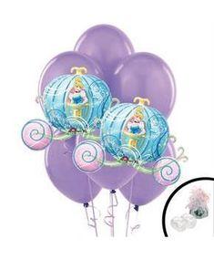 Girls Princess Carriage Jumbo Balloon Bouquet - Multi-colored