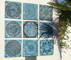 idée deco mosaique maroc bleu décoration exterieur jardin méditerranéen
