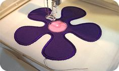 How to applique with embroidery machine