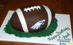 football birthday cakes design