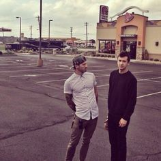 ~ Josh and Tyler just chillin outside of Taco Bell, their natural habitat