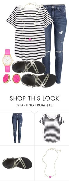 """""""Joke in D. """" by kierstinmoyers ❤ liked on Polyvore featuring H&M, Chaco, Kendra Scott and Kate Spade"""