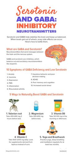 Serotonin and GABA help stabilize the brain and keep us balanced. When levels get out of whack scary side effects can occur. Heres how to battle them. Serotonin and GABA h Health And Beauty, Health And Wellness, Health Tips, Health Fitness, Healthy Mind, Get Healthy, Healthy Nutrition, Brain Health, Mental Health