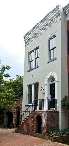 Oh how I love painted brick! Georgetown#Repin By:Pinterest++ for iPad#