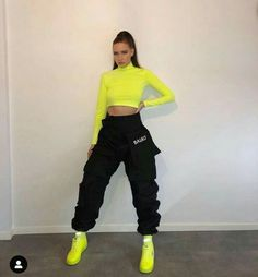 Neon Outfits, Swag Outfits For Girls, Cute Swag Outfits, Sporty Outfits, Teen Fashion Outfits, Retro Outfits, Look Fashion, Stylish Outfits, Fashion Wear