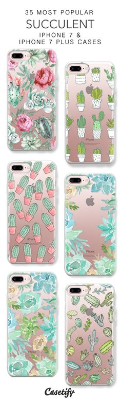 35 Must Have Succulent iPhone 7 Snap Cases and iPhone 7 Plus Cases. More Plants iPhone protective case here > https://www.casetify.com/collections/top_100_designs#/?vc=jpTW61mOT4